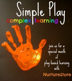 The Simple Play :: complex learning series is a special month of play-based learning ideas from NurtureStore. We're going back to basics and putting play at the heart of childhood. The philosophy is to offer space, time and opportunity for simple play, to encourage our children's creativity, enjoyment and complex learning.