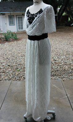 White Lace Butterick 6190