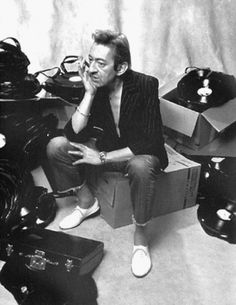 Serge Gainsbourg wearing his Repettos