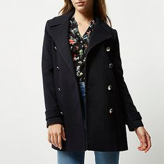 Dark navy military peacoat - coats - coats / jackets - women