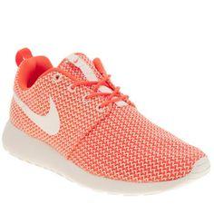 Nike White & Orange Roshe Run Trainers