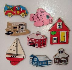 Magneetjes maken van oude puzzelstukjes!
