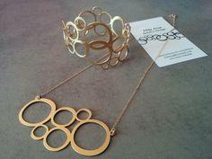 Gold Circle Necklace Circle Necklace & Circle by HilaAssaJewelry