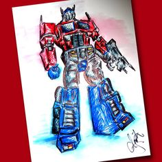 """Transformer"" Drawing/Watercolor 2015 by indiaSheana www.indiaSheana.com"