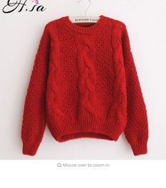 946a44d013 H.SA Women Sweaters Warm Pullover and Jumpers Crewneck Mohair Pullover  Twist Pull Jumpers Autumn 2017 Knitted Sweaters Christmas