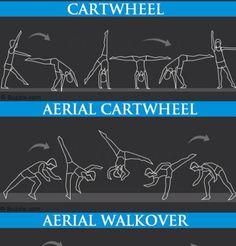 Aerial Cartwheel and Aerial Aerial Cartwheel and Aerial How To Do Gymnastics, Gymnastics Tricks, Tumbling Gymnastics, Gymnastics Skills, Cheer Flexibility, Gymnastics Flexibility, Acrobatic Gymnastics, Flexibility Workout, Gym Workout For Beginners