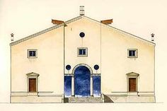 """Bookcase: """"The Villas of Palladio"""" by Giaconi and Williams; renaissance architect Palladio's architecture, illustrated by water colorist Giovanni Giaconi. Andrea Palladio, Historical Architecture, Neoclassical, Reggio, Exterior, Mansions, House Styles, Building, Villas"""