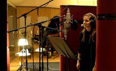 Emma Watson in the recording studio: Beauty and the Beast iTunes behind the scenes sneak peak