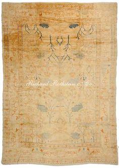 "Antique Oushak Oriental Rug Size: 14' 0"" x 18' 7"""