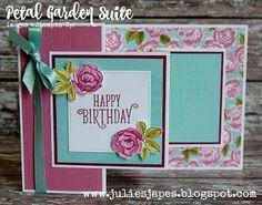 Julie Kettlewell - Stampin Up UK Independent Demonstrator - Order products 24/7: Petal Garden Double Z Joy Fold Card
