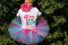 Baby Girl 1st Birthday Owl Personalized by LittleGraceBowtique, $55.00