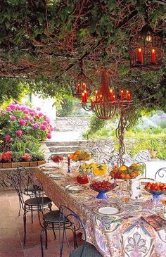 Christiane &  Serge Cagnolari's Beautiful Garden Dining Room