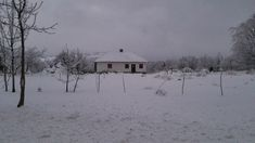 Old abandoned house in the winter ~ Video Clip