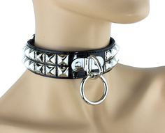 Studded Bondage Choker Patent Black Punk Gothic Fetish Cosplay Thrash Metal in Jewelry & Watches, Fashion Jewelry, Necklaces & Pendants | eBay