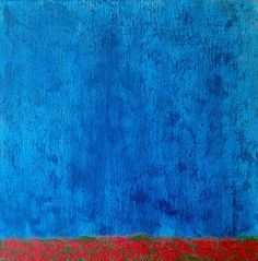 Jacek Sikora (#Siccora) RED POPPIES IN THE RAIN, acrylic on canvas, 50 x 50 cm (2016)  #art #contemporary #fineart #canvas #abstract #abstractart #abstractpainting #abstraction #painting #contemporaryart #black #deep #design #loveart #visualartist #modern