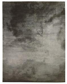 Sky Charcoal rug by Tufekian carpets