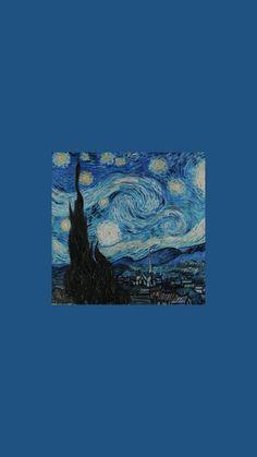 lockscreens & icons — paintings van gogh lockscreens like or Tumblr Wallpaper, Cartoon Wallpaper, Wallpaper Pastel, Van Gogh Wallpaper, Painting Wallpaper, Aesthetic Pastel Wallpaper, Blue Wallpapers, Cute Wallpaper Backgrounds, Disney Wallpaper
