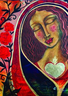 Self-Love begins with Self-Compassion and Self-Forgiveness, Goddesses Tarot, Madonna Art, Divine Mother, Mother Mary, Religion Catolica, Abstract Nature, Shiloh, Illustrations, Sacred Art