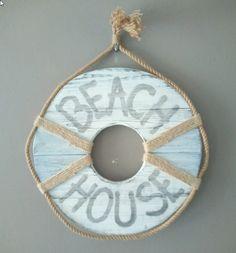 Beach House Reddingsboei hout met touw | Karin's Deco Atelier