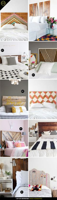 DIY INSPIRATION | Wood Headboards