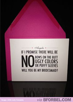 hahahaha! guess my bridesmaids will be lucky enough not to have to worry about it since i cant stand any of it either!