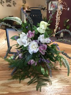 Wedding flowers in a lantern