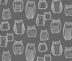 Night Owl by Leanne on Spoonflower