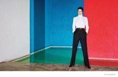 Emily DIDonato Dons Black & White Looks in Mexico City for WSJ Magazine
