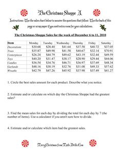 The The Christmas Shoppe (Numbers under $100) (A) Math Worksheet from the Christmas Math Worksheets Page at Math-Drills.com. Christmas Math Worksheets, Math Drills, The 100, Numbers, Chart, Paper