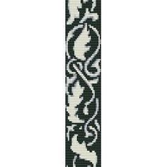 Leaves  beading cuff bracelet pattern for peyote or  by garbanke, $4.00