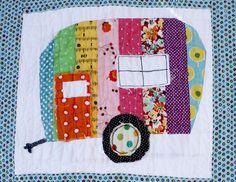 Camper Mini Quilt Close up 03-2012