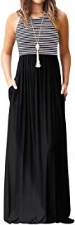 Buy Women Striped Long Sleeve Tunic Vintage Casual Maxi Dress with Pockets Waistband Pretty Dresses For Women, Formal Dresses For Women, Casual Summer Dresses, Summer Dress Patterns, Long Sleeve Tunic, Dresses With Sleeves, Spaghetti, Stripes, Slim