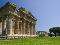 Temple of Neptune, Site of Ancient Greek Ruins, Campania, Italy Photographic Print