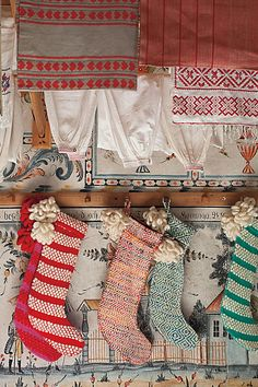 Anthropologie Christmas stockings