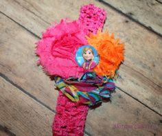 Anna from Disney's Frozen inspired Shabby Headband by nmdisque, $10.00
