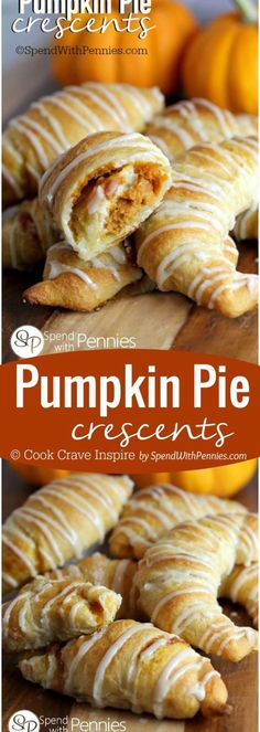 These are super easy to make and are a perfect Thanksgiving dessert for the kids to help make! Pumpkin Pie Crescents Fall and Winter Dessert Recipe | Spend with Pennies Thanksgiving Desserts Easy, Quick Easy Desserts, Winter Desserts, Pumpkin Recipes, Fall Recipes, Holiday Recipes, Christmas Holiday, Holiday Ideas, Holiday Decor
