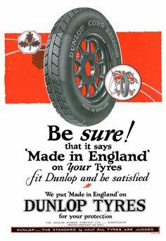 Vintage British Dunlop Tyres Ad