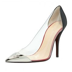 81.70$  Buy now - http://ali9kh.worldwells.pw/go.php?t=32662523340 - Women's Transparent Pointed Toe Pumps Black 2016 PVC Custom Made Plus Size Ladies Party Shoes Pointed Toe High Thin Heels Sexy