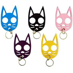 Simple, lightweight and effective!  These cute cat keychains are not toys, but are in fact very serious self defense weapons. The design has been around for years, but the technology has gotten better. They are now made of an ultra-tough plastic material that is very hard to break, which is exactly what you need should you ever have to use this device.