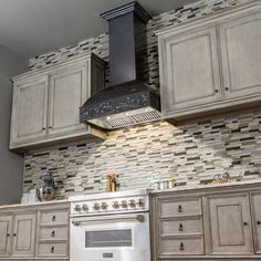 ZLINE 36 in. 1200 CFM Designer Series Wooden Wall Mount Range Hood has a modern design and built-to-last quality that would make it a great addition to any home or kitchen remodel. Kitchen Hood Design, Kitchen Redo, Kitchen And Bath, New Kitchen, Kitchen Remodel, Kitchen Ideas, Kitchen Flooring, Kitchen Backsplash, Kitchen Cabinets