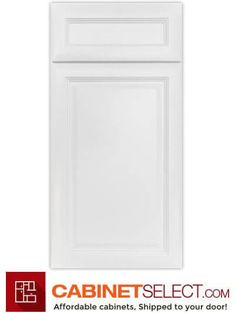 Shop K-Series White Kitchen Cabinets. The line offers solid birch wood and a provides a new color to the existing popular K-series. Birch Kitchen Cabinets, Kitchen Cabinets On A Budget, Kitchen Cabinet Doors, Painting Kitchen Cabinets, White Cabinets, Plywood Shelves, Types Of Cabinets, White Doors, Desk With Drawers