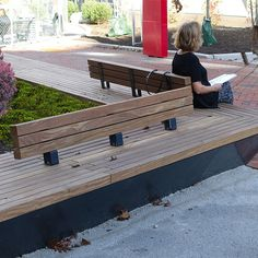 Green areas with Steel Protection and Sturdy FSC Hardwood Seats