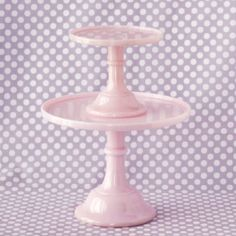 Pink Milk Glass Pink · milk glass cake
