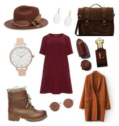 """My brown dream"" by doctorlia on Polyvore featuring Manon Baptiste, Steve Madden, Dr. Martens, Sensi Studio, Olivia Burton, Clive Christian, The Row and plus size dresses"
