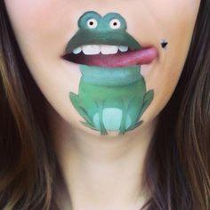schminken lippen coole Comicfiguren frosch