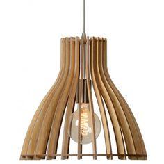 Lampa wisząca Bounde o średnicy klosza 35 cm wykonana  w całości z drewna. https://blowupdesign.pl/pl/31-wiszace-stojace-lampy-drewniane-design-skandynawski #lampydrewniane #lampywiszące #oświetlenie #modneoświetlenie #woodenlamps #lighting