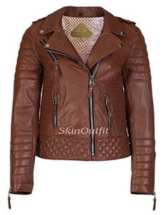 SkinOutfit Women Stylish Slimfit Lambskin Motorcycle Biker Leather Jacket Tan XXL >>> Review more details @ http://www.amazon.com/gp/product/B01IHLRXVW/?tag=clothing8888-20&pxy=240716113545