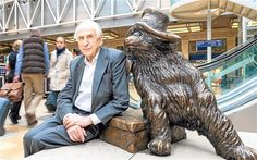 Paddington Bear creator Michael Bond gets a free moment to pose at Paddington station with the famous bear he created nearly 60 years ago(Photo: Andrew Crowley)