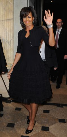 The First Lady in Azzedine Alaia ...  the dress