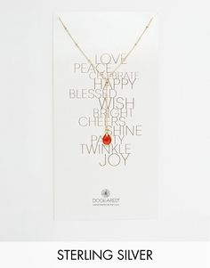 Dogeared Gold Plated Love Peace Beaded Y Carnelian Gem Drop Necklace saved by #ShoppingIS
